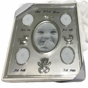 First Impressions Baby Milestone Frame Silver